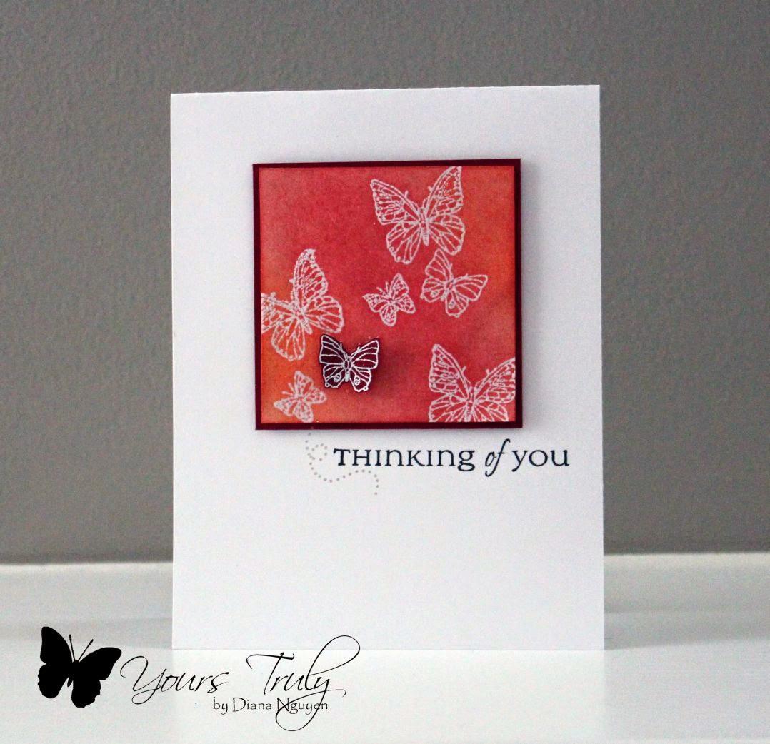 Diana Nguyen, CAS, card, sponging, butterflies