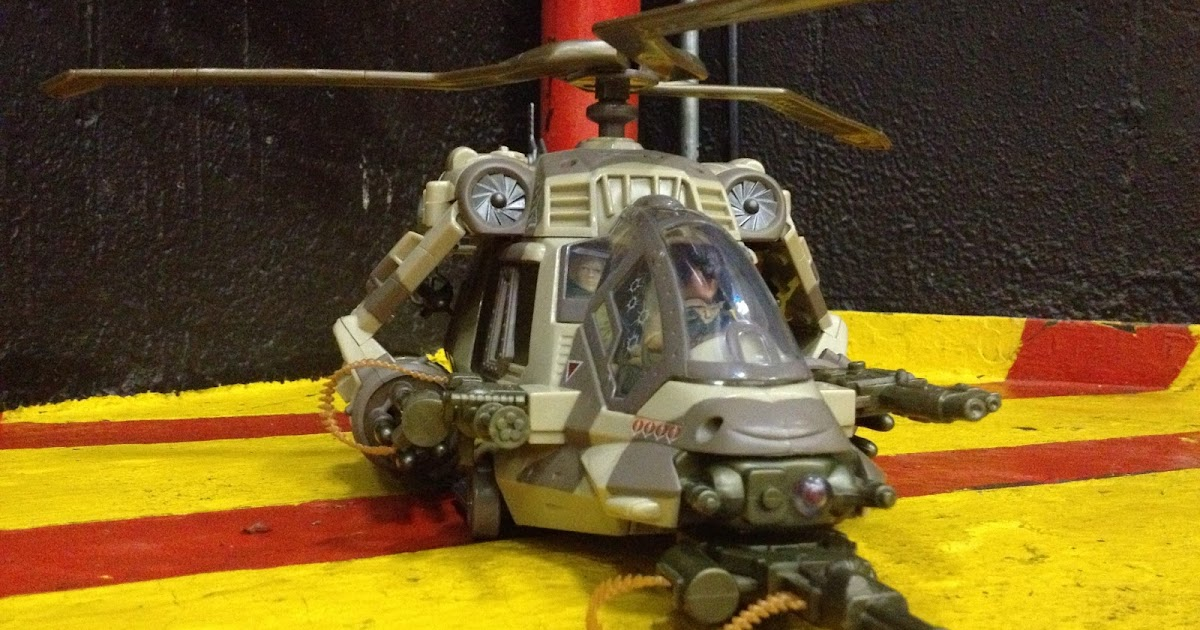 GI Joe Vehicle Night Attack Chopper Missile 2002 Original Part