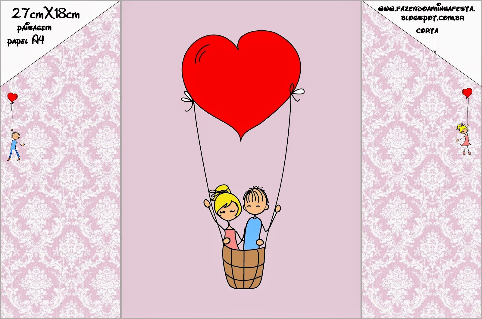 Cute Wedding Couple With Balloons: Free Printable Wedding ...