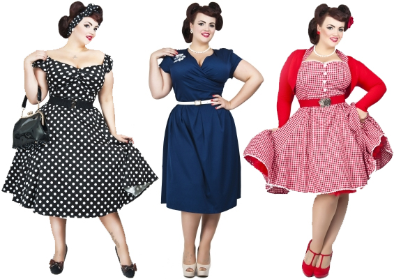 size vintage dresses Plus