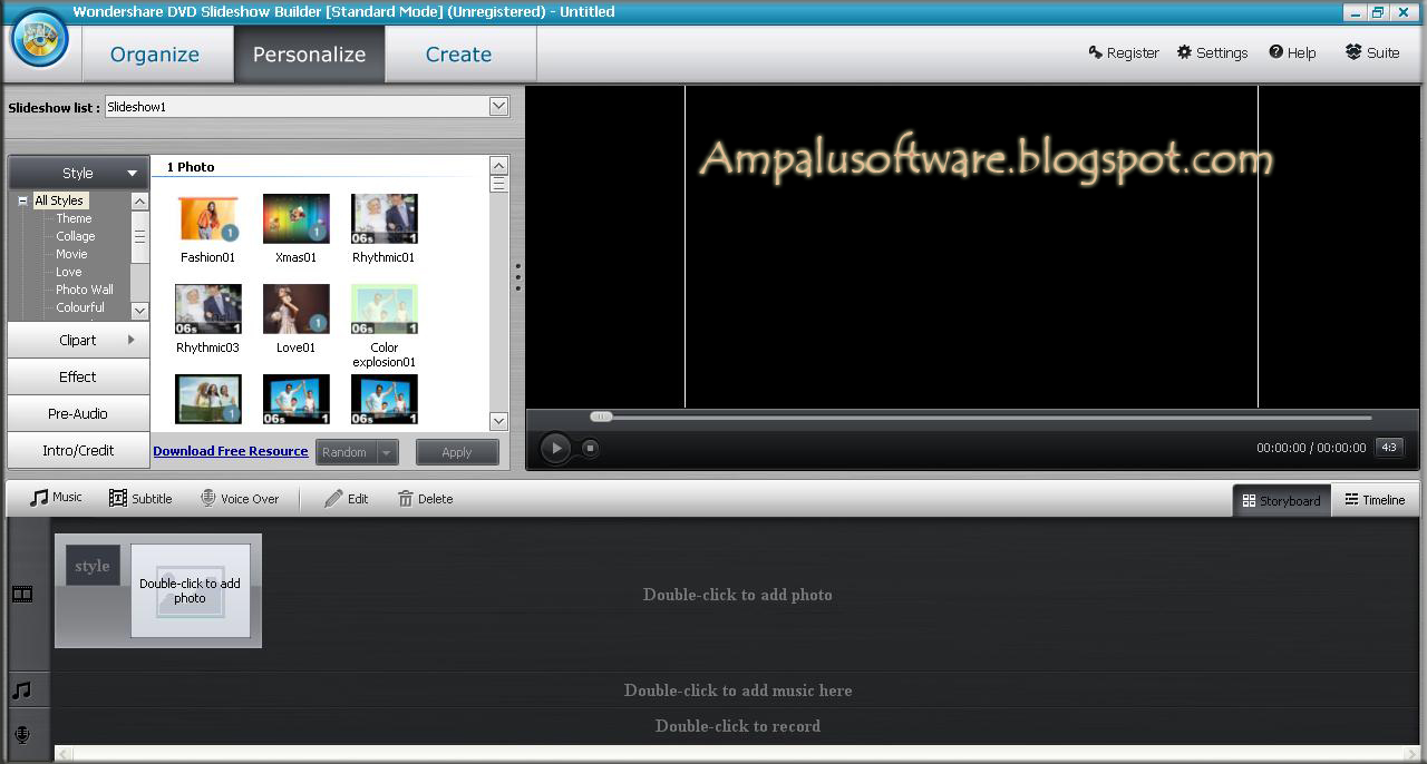 Wondershare DVD Slideshow Builder Deluxe 6.1.12.0 Full Crack | AmpaluSoftware