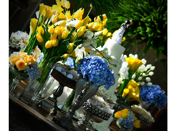 decoracao para casamento em azul e amarelo:Nossos achados: Casamento – Decoração Azul