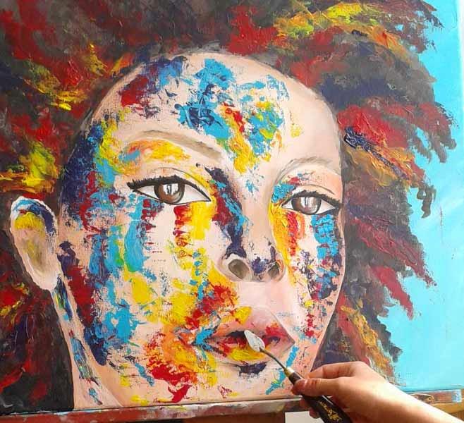 portrait acrilic