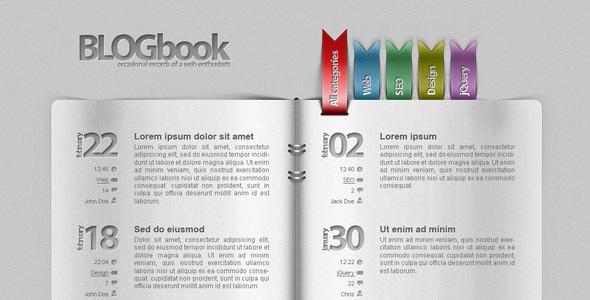 ThemeForest - Blog as a book!