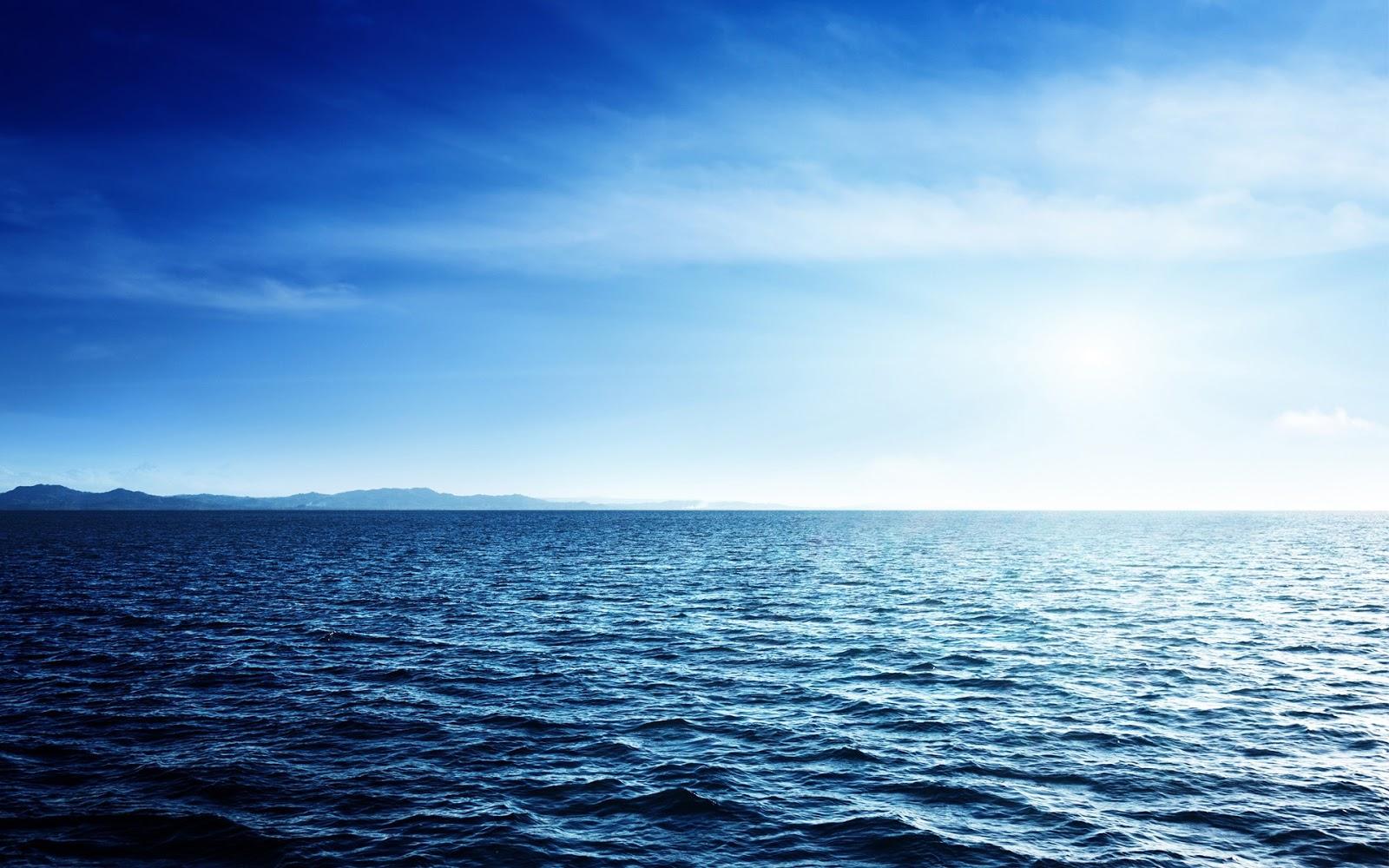Deep Blue Ocean Waves