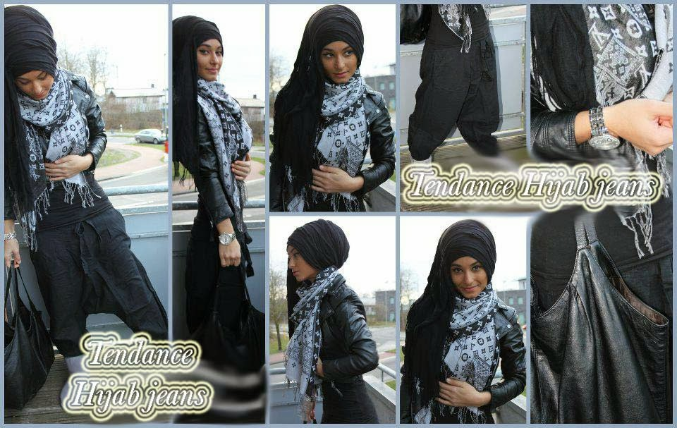 Hijab Fashion with Jeans