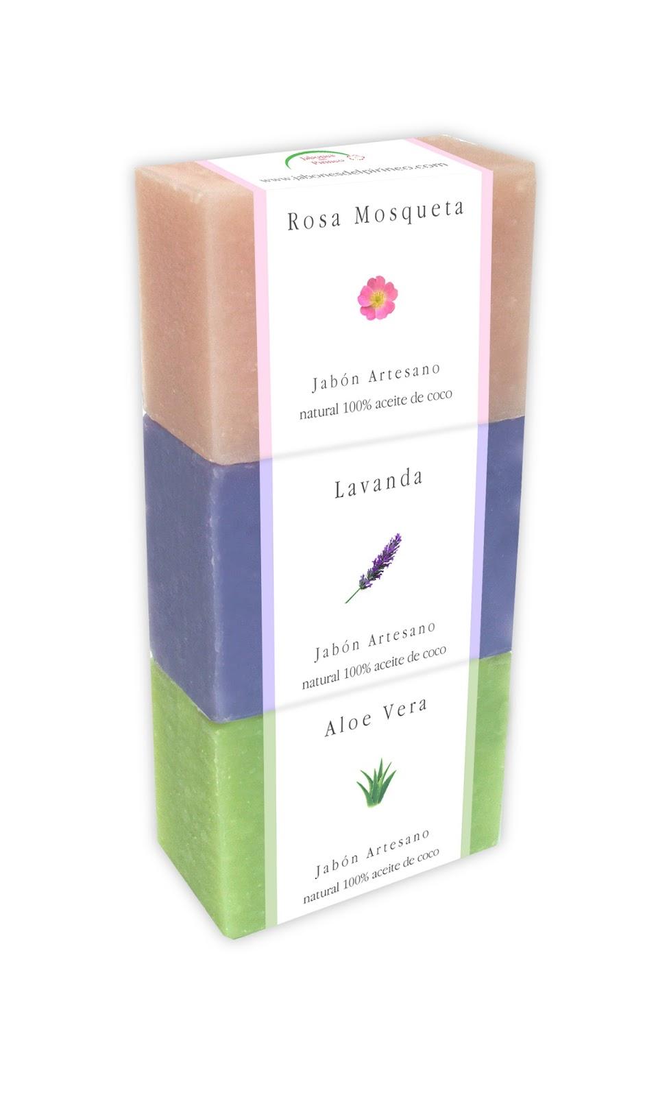 Jabones de Rosa Mosqueta, Lavanda y Aloe Vera
