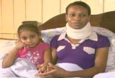 Daiane Maciel the pregnant maid who fell 10 floors from a highrise Florianopolis apartment building and lived gives interview to TV-RBS