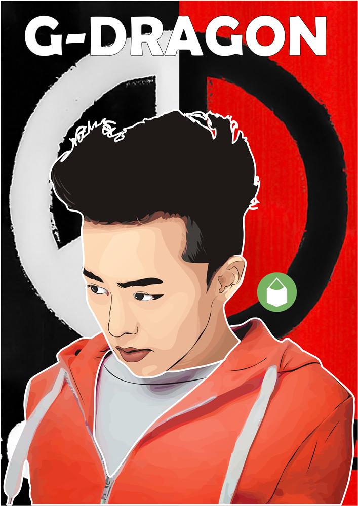 G Dragon Big Bang Vector Kartun Mas Kades Blog Desainer Grafis