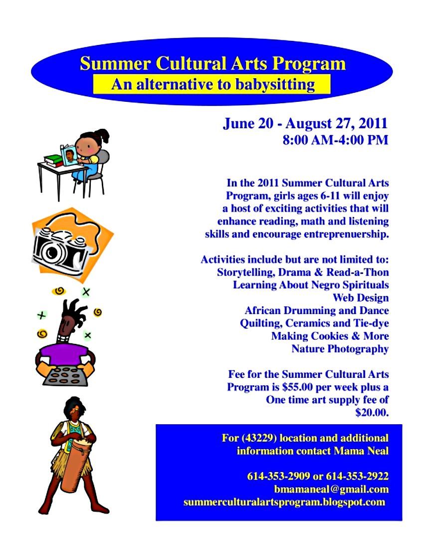 Summer Cultural Arts Program