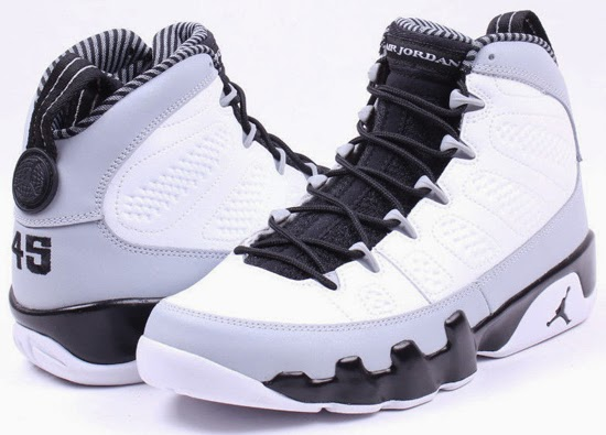 Air Jordan 9 Grey White