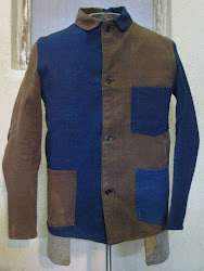 ~20's BLUE DENIM × BROWN DENIM  COVERALL JACKET