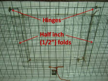 how to make a trap door on a bird cage