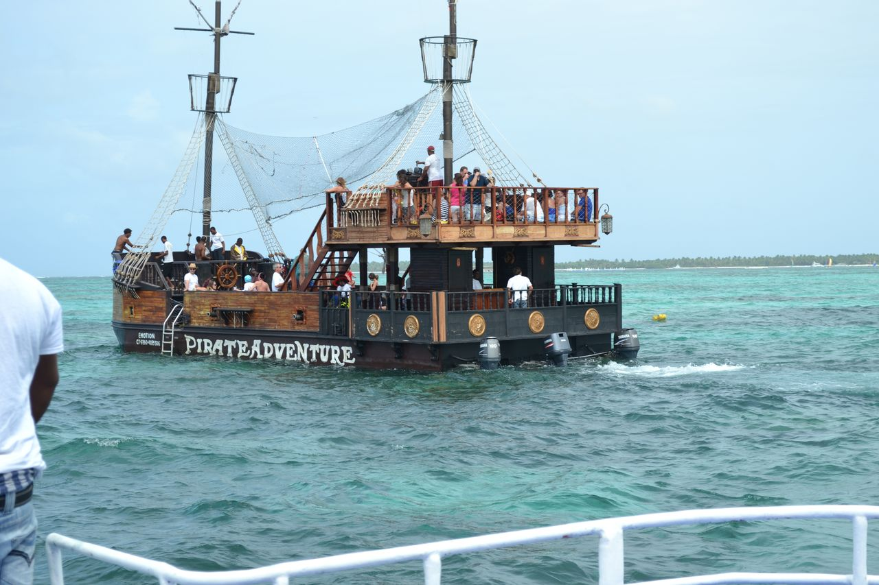 pirate ship in the ocean (party boat)
