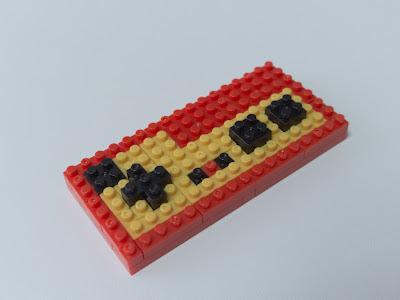 ナノブロックで作ったファミコンのコントローラー