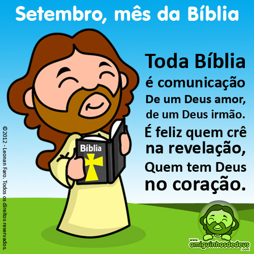 Mês da Bíblia desenho