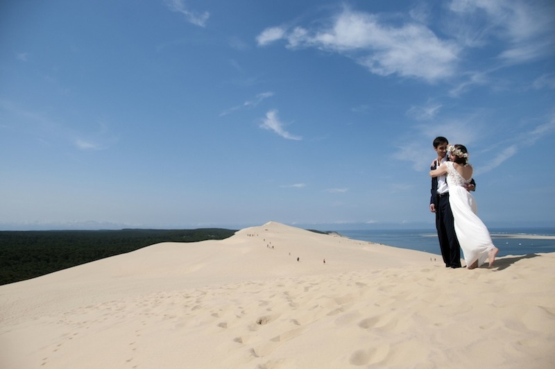 Mariage bohéme dune du pyla blog mode bordeaux photo Caroline Bizard
