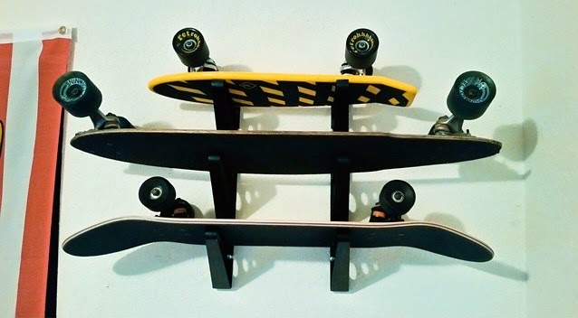 skateboard home display rack