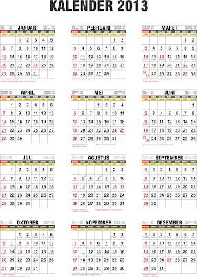 Kalender 2013 Masehi dan Hijriyah