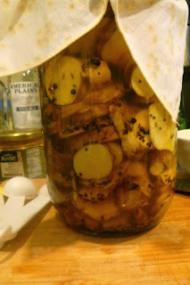 raw fermented jerusalem artichoke pickle