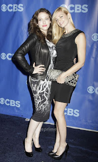 Beth Behrs and Kat Dennings legs