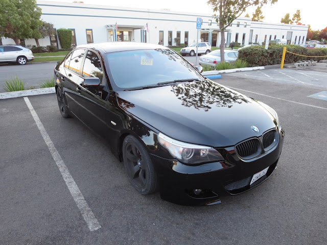 Scratched BMW 545i after repaint at Almost Everything Auto Body