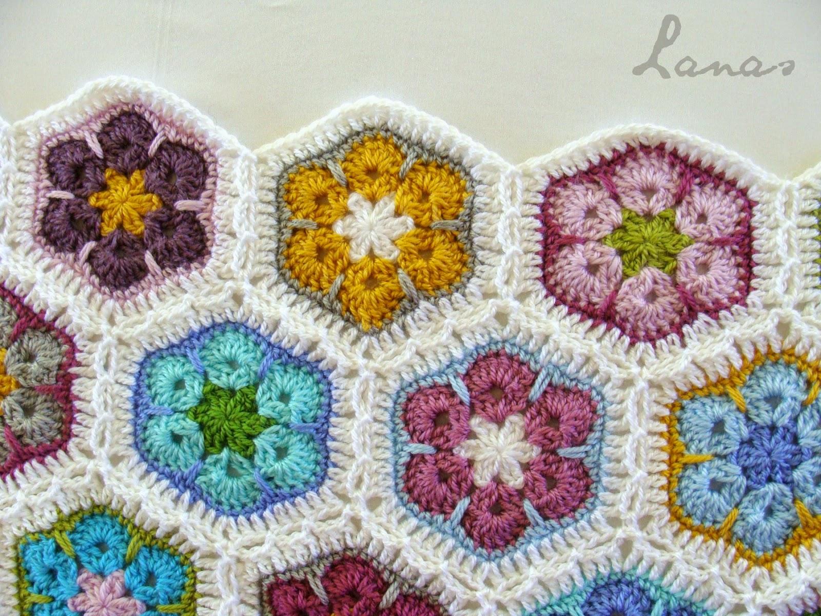 Lanas de Ana: WIP: Flower Blanket