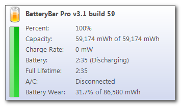 status info battery