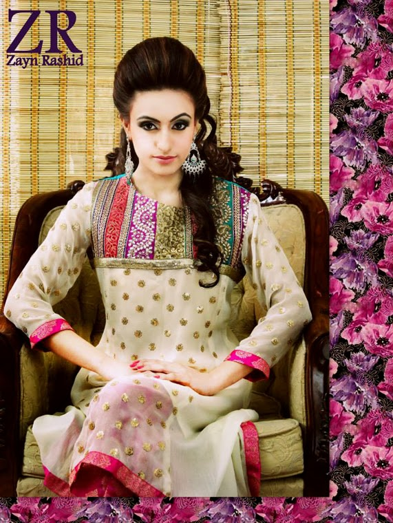 Latest Party Wear Spring 2014 Collection By Zayn Rashid-01