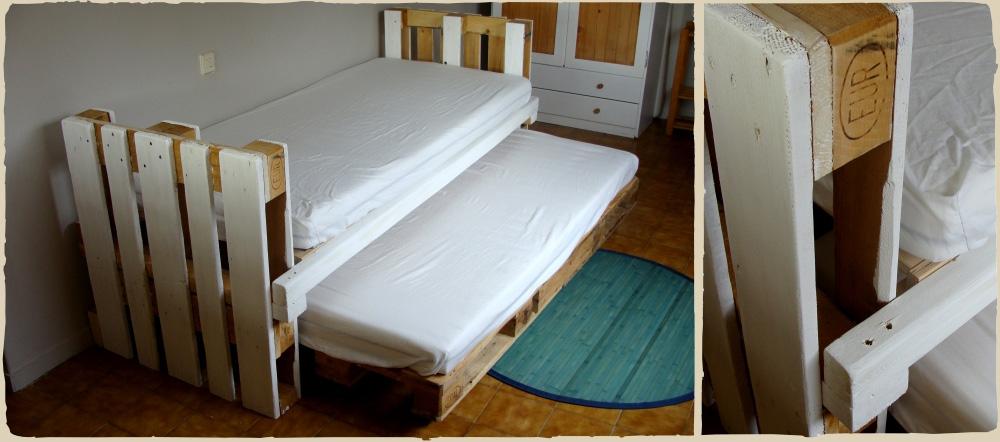 La cama nido para ni os con palets de mar a - Fabricar cama nido ...