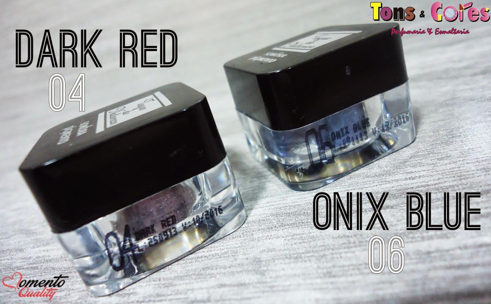 Sombra Pigmento Dark Red e Onix Blue Toque de Natureza