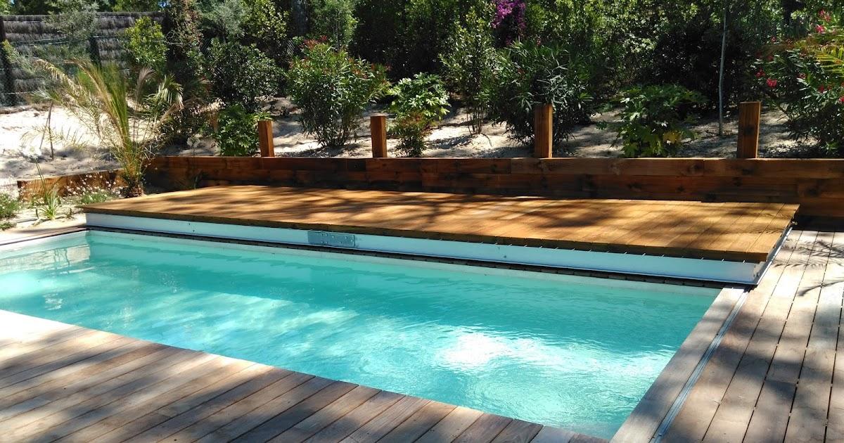 BASE 33 Piscine avec terrasse bois coulissante
