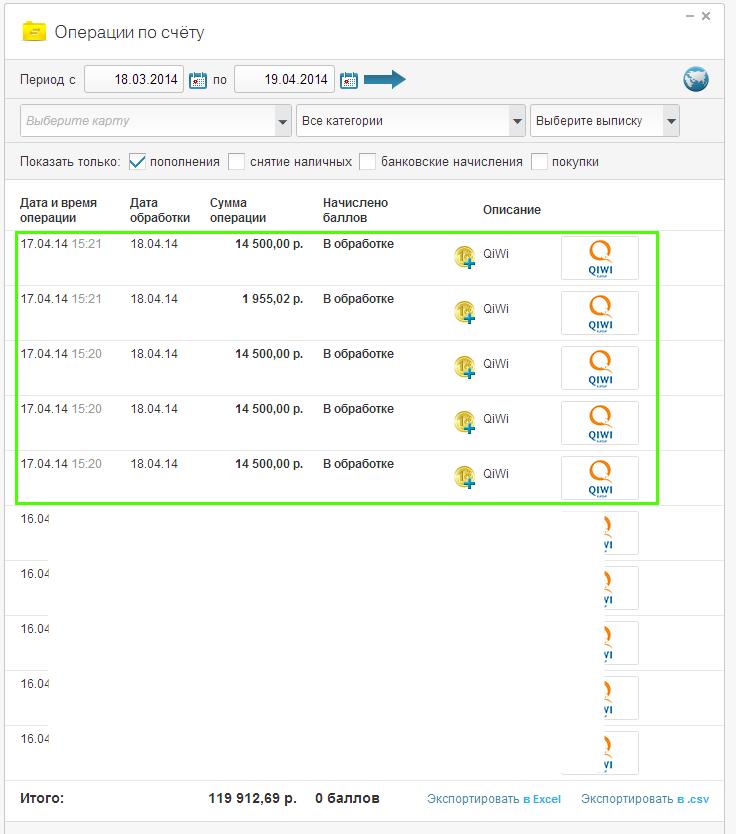 Получение $1683 (59 955 руб) из программы Index TOP 20 Апрель 2014. Интернет-банк