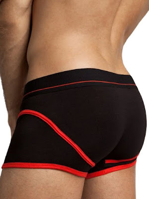 jackadams Hawthorne Boxer Brief Underwear Black-Red Back Gayrado