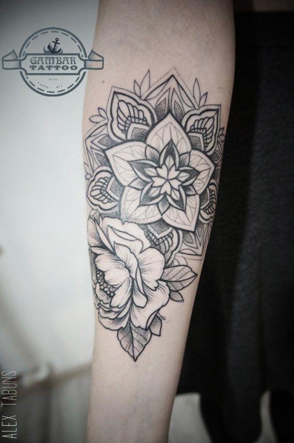 Desain Gambar Tato Bunga Keren Untuk Cowok Dan Cewek Seni Tato