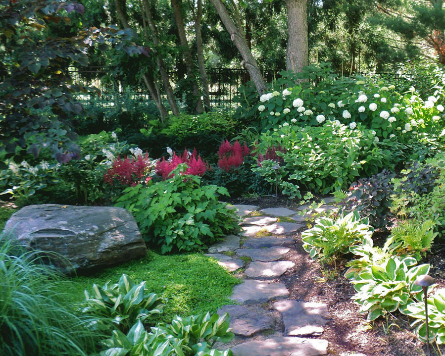 Shade Garden With Stone Path Photo By Sisson Landscapes