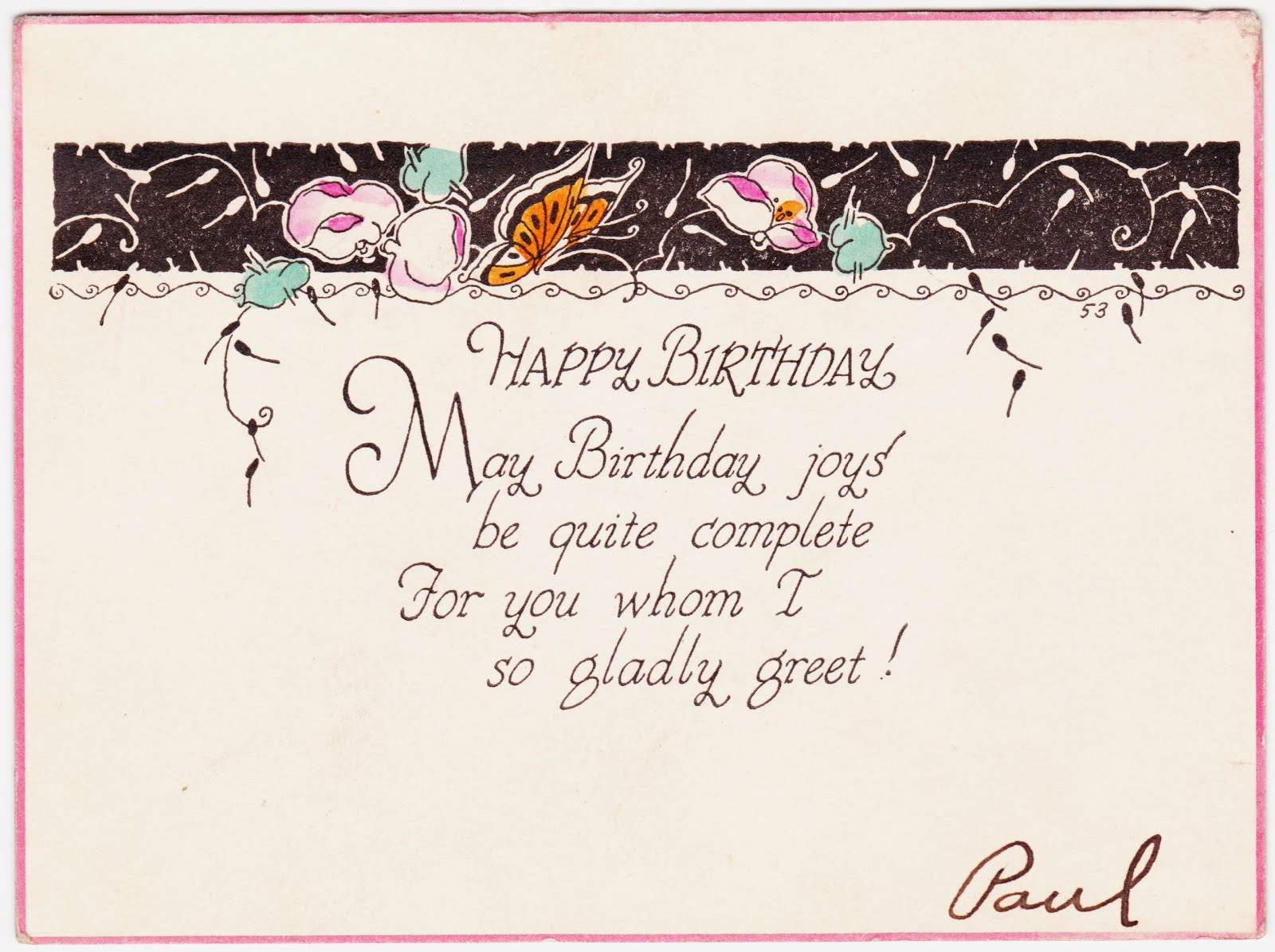 How To Write A Happy Birthday Card gangcraftnet – Nice Things to Say in a Birthday Card