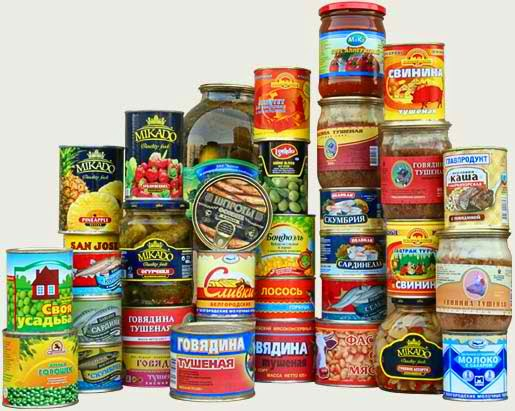 Some canned foods