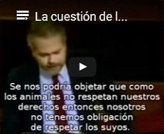 Discurso de Tom Regan: