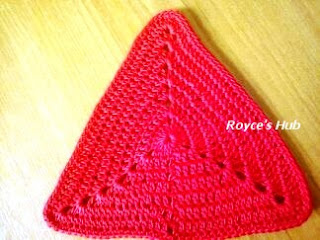 Crochet Triangle : Crochet Triangle Motif # 1