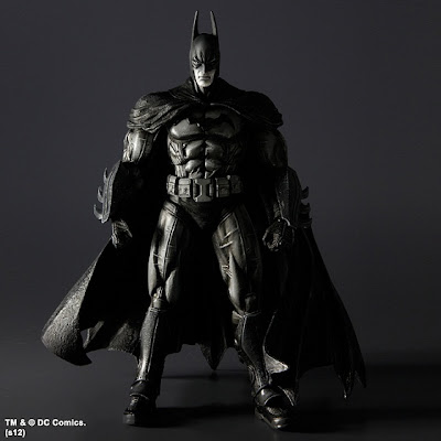 San Diego Comic-Con 2012 Exclusive Black and White Edition Batman: Arkham Asylum Action Figures by Play Arts Kai - Batman