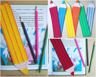image Easy Christmas Bazaar Craft- Crochet Pencil Bookmark in a variety of colours