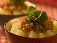 Salada Quente de Batata (vegana)