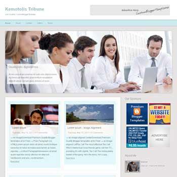 Kemotolis Tribune blogger template. free blogspot template magazine style
