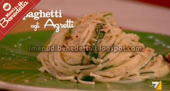 Spaghetti agli Agretti (o Barba dei Frati) di Benedetta Parodi