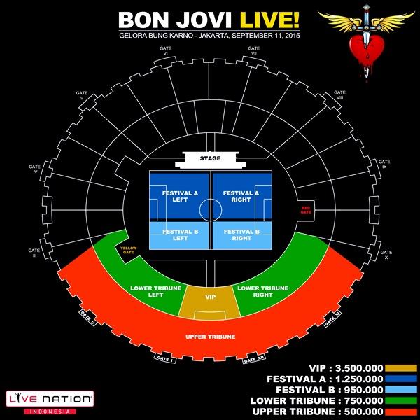 Harga Tiket Nonton Konser Bon Jovi Band Live Djakarta 11-09-2015