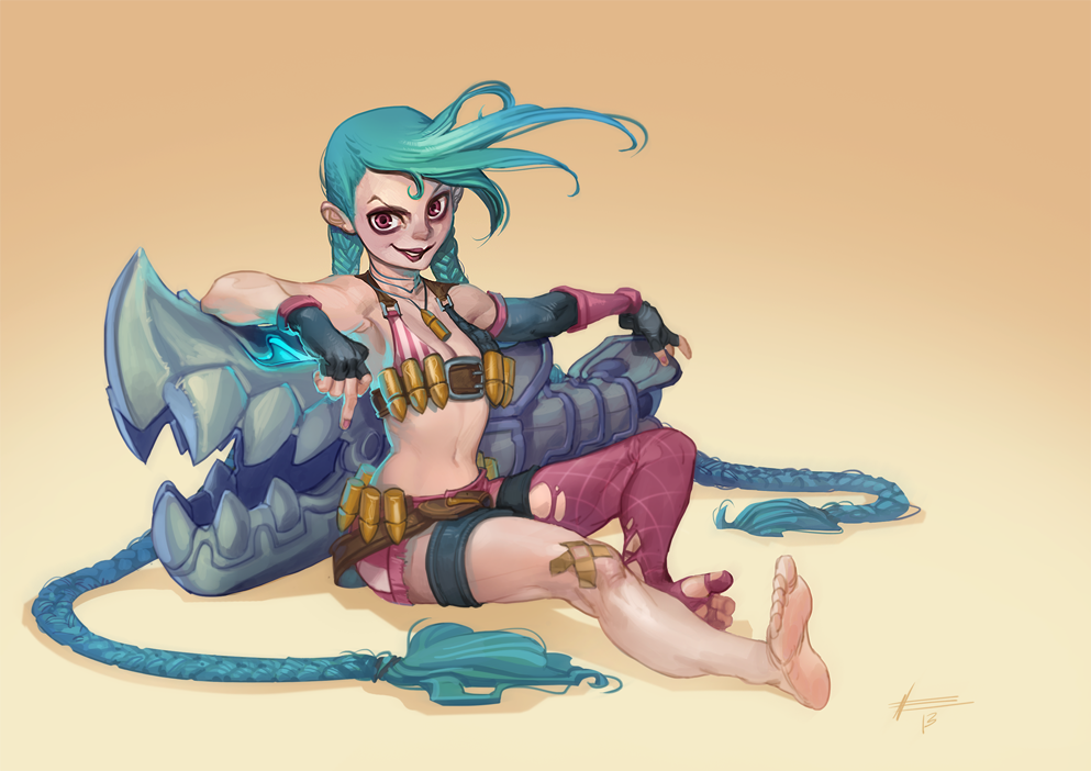 jinx fan art draw lol