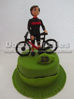 Bolo aniversário ciclista