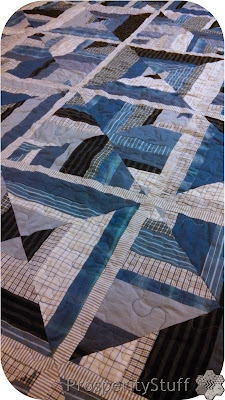 ProsperityStuff Variegated Quilting on Dress Shirt Quilt