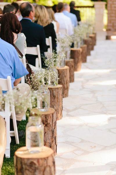 gla de roure: troncos para decoracion de bodas
